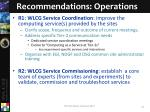 recommendations operations