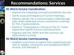 recommendations services