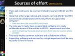 sources of effort cern centric