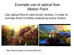 example use of optical flow motion paint