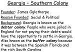 georgia southern colony