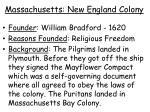 massachusetts new england colony