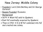 new jersey middle colony