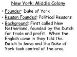 new york middle colony