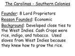 the carolinas southern colonies