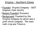virginia southern colony
