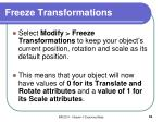 freeze transformations