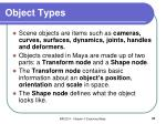 object types