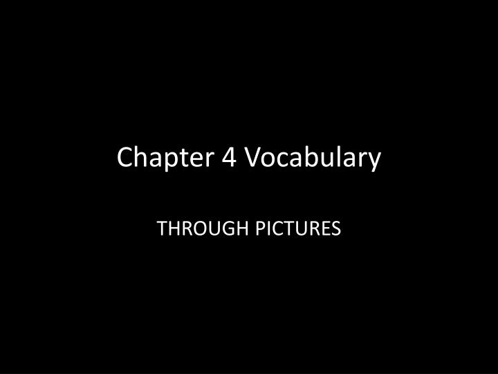 chapter 4 vocabulary n.
