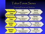 tabor forum series