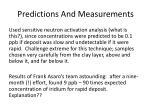 predictions and measurements