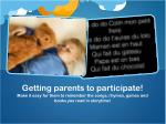 getting parents to participate