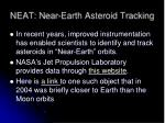 neat near earth asteroid tracking