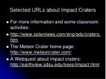 selected urls about impact craters