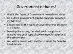 government debates