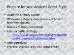 prepare for war ancient greek style