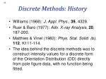 discrete methods history