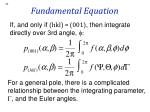 fundamental equation
