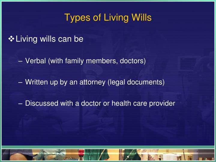 Types of Living Wills