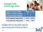 linkages with k12 education data are more common for 619 than for part c