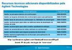 recursos t cnicos adicionais disponibilizados pela agilent technologies