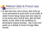 mildred cable french sisa1