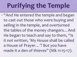 purifying the temple