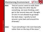 maintaining environment2