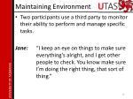 maintaining environment3