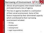 narrowing of environment