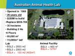 australian animal health lab