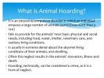 what is animal hoarding