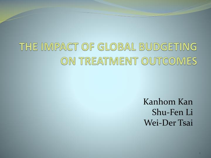 the impact of global budgeting on treatment outcomes n.