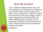 real life situation