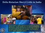 delta rotarian sheryl little in india