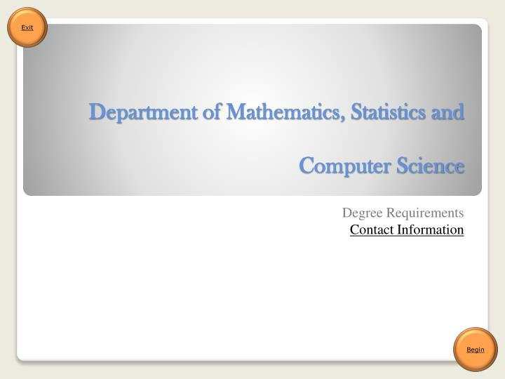 department of mathematics statistics and computer science n.