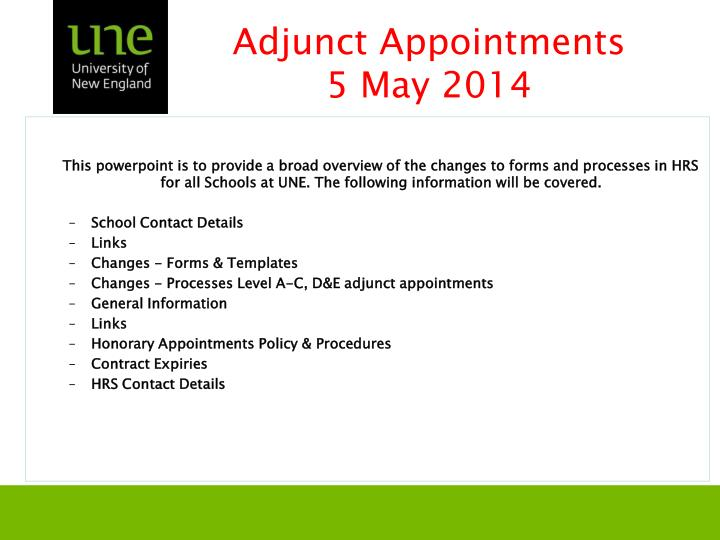 adjunct appointments 5 may 2014 n.