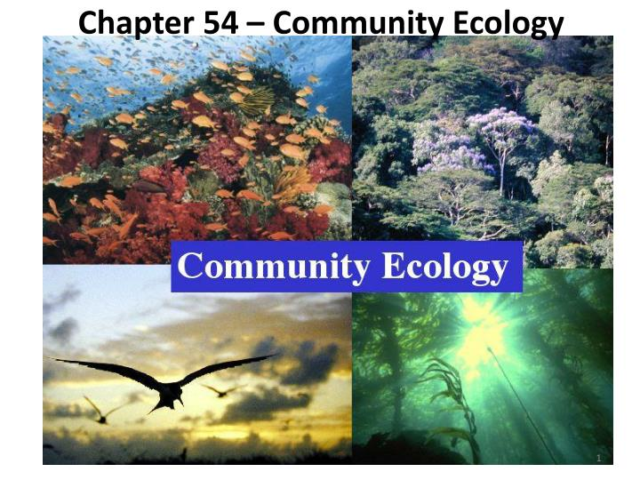 chapter 54 community ecology n.