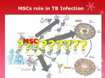 mscs role in tb infection