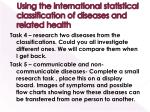 using the international statistical classification of diseases and related health
