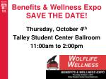 benefits wellness expo