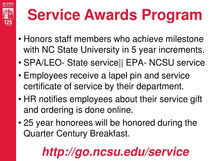 service awards program n.