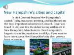 new hampshire s cities and capital