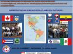 manejo sustentable de riesgos de salud ambiental en ecuador