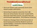 think eatgreen@school