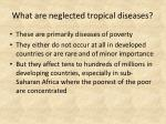 what are neglected tropical diseases