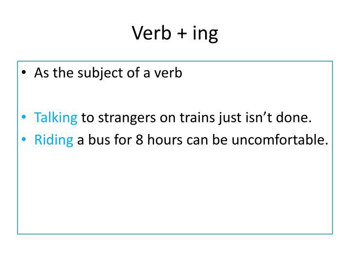 Verb +