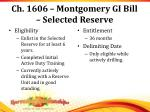ch 1606 montgomery gi bill selected reserve