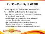 ch 33 post 9 11 gi bill