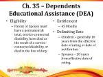 ch 35 dependents educational assistance dea